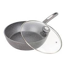 Сковорода-сотейник Kamille Granite 26 см с крышкой KM-4276GRpsg, КОД: 168808