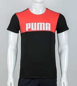 Футболка двухцветная PUMA (2015-1м), Черн+Красн