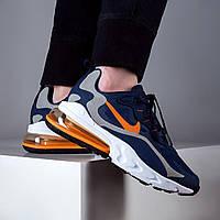 Мужские кроссовки Nike Air Max React 270 Blue Orange ( Реплика )