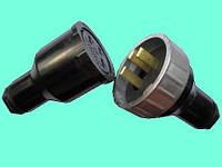 ИЭ9902А-II вилка и розетка трёхполюсная