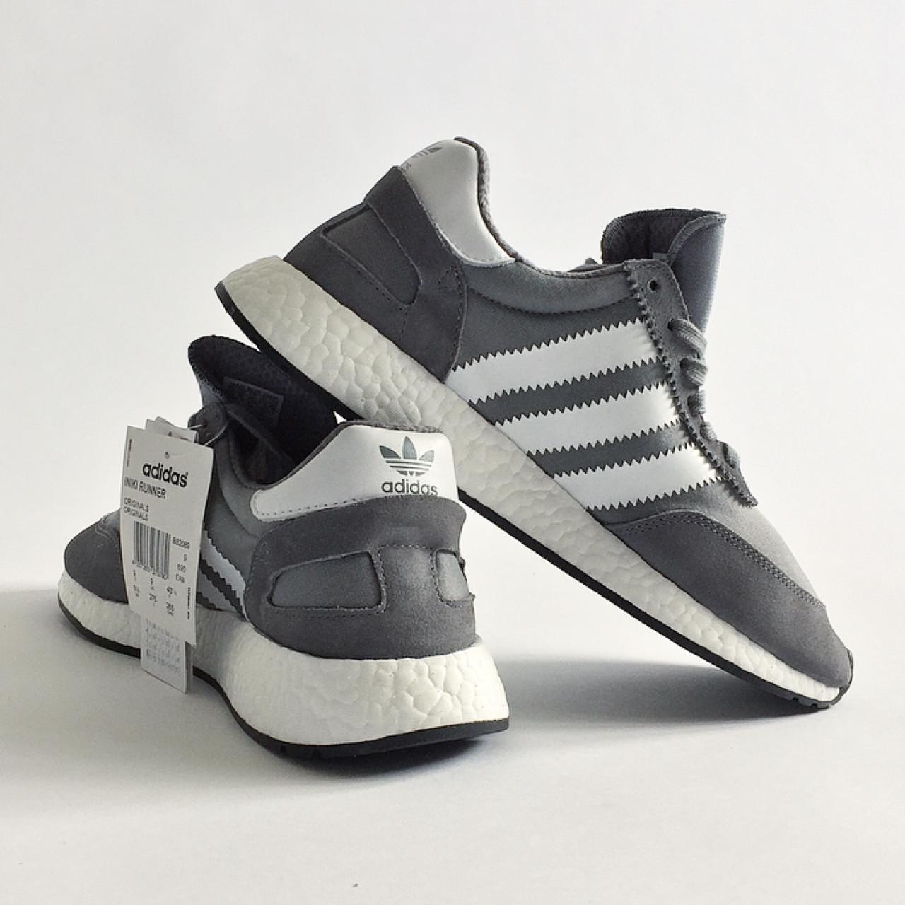Кроссовки Adidas Iniki Runner серые (Мужские Адидас Иники Раннер весна/лето 41-44)