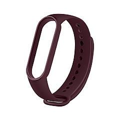 Сменный ремешок на фитнес браслет Xiaomi Mi Smart Band 5 Цвет - Бордовый