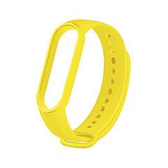 Сменный ремешок на фитнес браслет Xiaomi Mi Smart Band 5 Цвет - Желтый