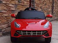 """Детский Электромобиль легковой  Tilly красный """"Ferrari"""" музыкальный FL1078 EVA RED с пультом управления"""