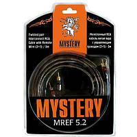 RCA Кабель межблочный (2 канала, 5м, двойной экран) Mystery MREF 5.2