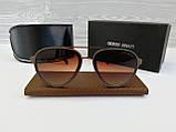 Очки мужские солнцезащитные коричневые реплика, фото 2