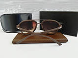 Очки мужские солнцезащитные коричневые реплика, фото 3