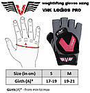 Перчатки для фитнеса женские VNK Ladies PRO S, фото 8