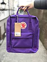 Рюкзак фиолетовый женский мужской городской школьный 16 литров от бренда Fjallraven Kanken Classic
