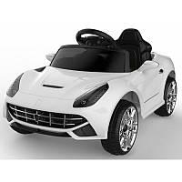 """Детский Электромобиль легковой  Tilly белый """"Ferrari"""" музыкальный FL1078 EVA WHITE с пультом управления"""