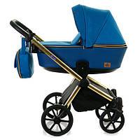 Универсальная коляска 2 в 1 Bebe-mobile Cesaro Limited Chrom Синий Y826, КОД: 1635874