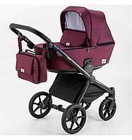 Универсальная коляска 2 в 1 Bebe-Mobile Cesaro Бордовый Y20, КОД: 1676430