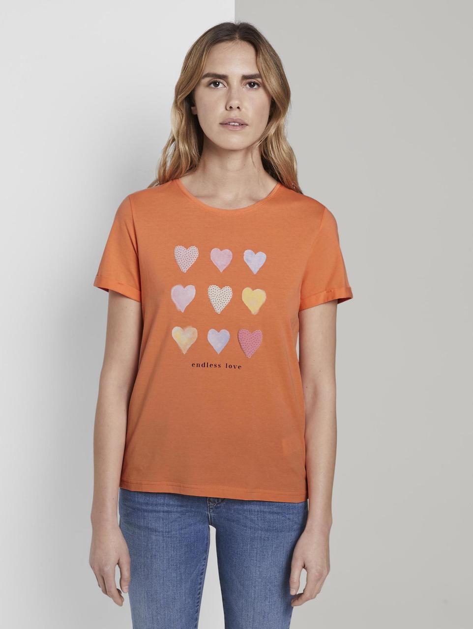 Футболка Tom Tailor 1019453 XL Оранжевый