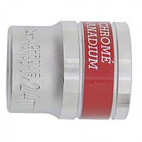 Головка торцевая MТХ 24 мм двенадцатигранная CrV под квадрат 1 2 хромированная 136939, КОД: 1696119