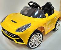 """Детский Электромобиль легковой  Tilly желтый """"Ferrari"""" музыкальный FL1078 EVA YELLOW с пультом управления"""