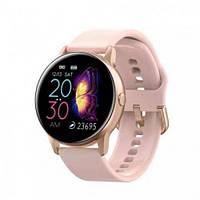 Умные-часы с пульсометром и цветным IPS дисплеем Smart Watch DT88 Пудровый (sm-1381)