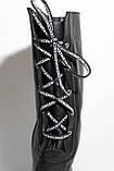 Жіночі зимові чоботи шкіряні, чорні на товстій підошві. Розміри 38, 39, 40, фото 4