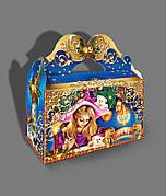 Новогодняя картонная упаковка Сказочный ларец, на вес до 1000г, от 1 штуки