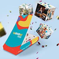 Открытка взрыв Woow cube 3 кубика с твоими фото взрывающаяся pop up коробкаподарок Подарок на Новый год 2021