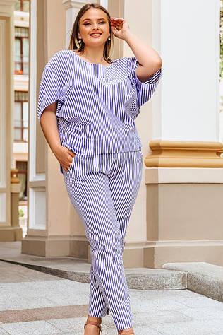 Модный костюм большого размера Бодрум голубой