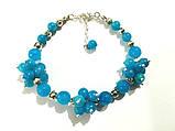 Браслет Аквамарин натуральный камень, цвет голубой и его оттенки, тм Satori \ Sb - 0028, фото 2