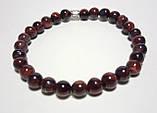 Браслет тонкий Бычий Глаз, натуральный камень, тм Satori \ Sb - 0032, фото 2