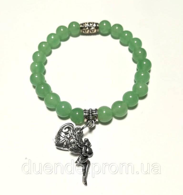 Браслет Нефритовый натуральный камень, цвет зеленый и его оттенки, тм Satori \ Sb - 0041