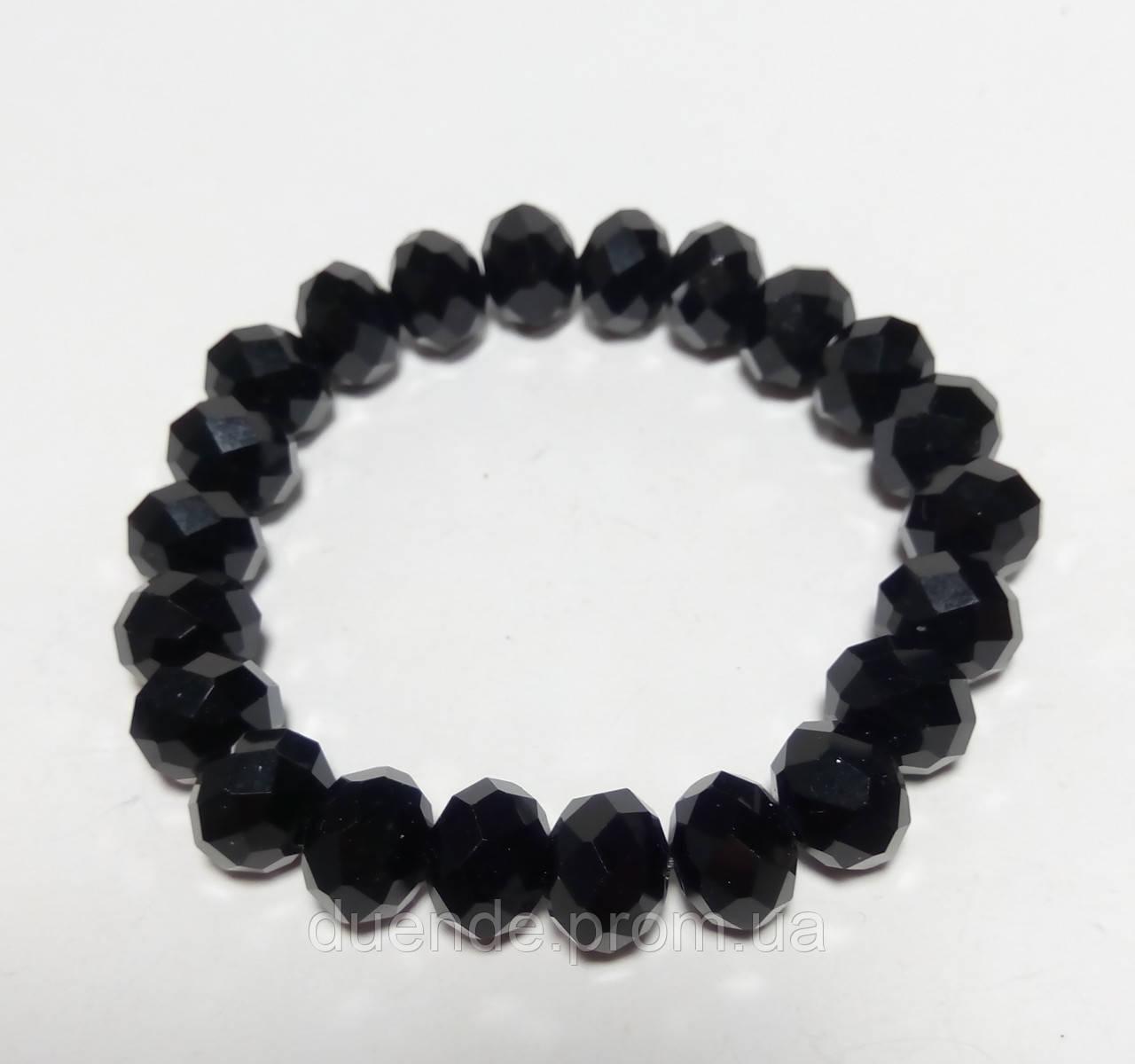 Браслет стильный Чешский Хрусталь, цвет черный, тм Satori \ Sb - 0046