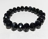 Браслет стильный Чешский Хрусталь, цвет черный, тм Satori \ Sb - 0046, фото 3