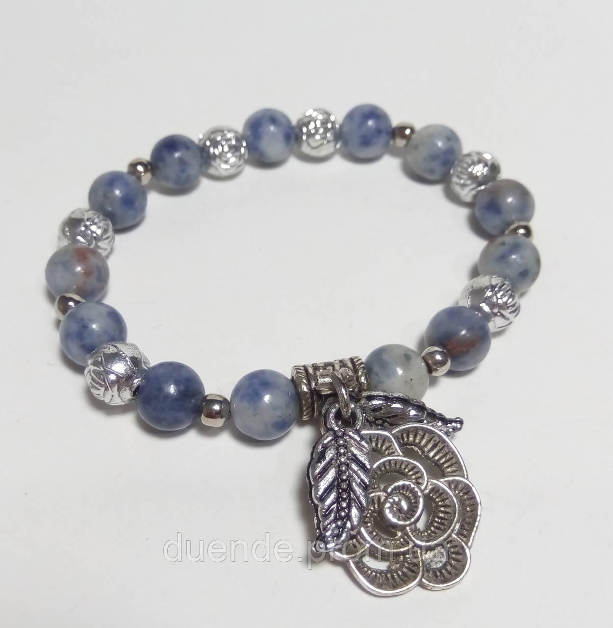 Браслет Лазуритовый натуральный камень, цвет синий и его оттенки, тм Satori \ Sb - 0064