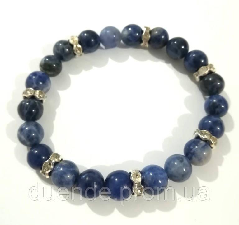 Браслет Лазуритовый из натурального камня, цвет синий и его оттенки, тм Satori \ Sb - 0065