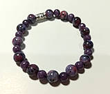 Браслет Чароит, натуральный камень, цвет фиолетовый и его оттенки, тм Satori \ Sb - 0074, фото 2