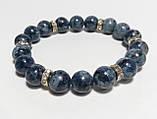 Браслет сапфировый кварц, натуральный камень, тм Satori \ Sb - 0087, фото 2