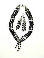 Комплект из Авантюрина ночь Каира - колье + серьги, натуральный камень, тм Satori \ Sn - 0040