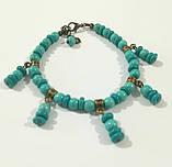 Чокер + браслет из Бирюзы, набор украшений из натурального камня, тм Satori \ Sn - 0044, фото 2