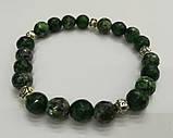 Браслет Цоизит, натуральный камень, цвет зеленый и его оттенки, тм Satori \ Sb - 0134, фото 2