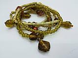 Браслет Восточный бисер, цвет песочный, коричневый, тм Satori \ Sb - 0161, фото 2