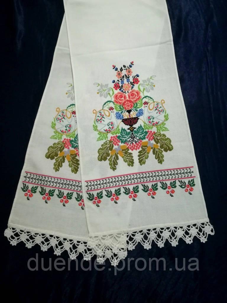 Рушник свадебный Изобилие, ручная вышивка