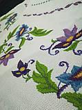 Рушник вышитый Клематисы, ручная вышивка, фото 3