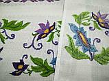 Рушник вышитый Клематисы, ручная вышивка, фото 4