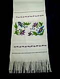 Рушник вышитый Клематисы, ручная вышивка, фото 5