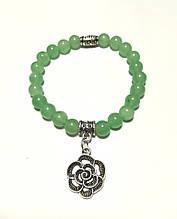 Браслет из Нефрита натуральный камень, цвет зеленый и его оттенки, тм Satori \ Sb - 0165