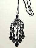 Подвеска из Шунгита с цепочкой, натуральный камень, цвет черный, тм Satori \ Sk - 0036, фото 2
