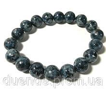 Браслет сапфировый кварц, натуральный камень, цвет сине-серый и его оттенки, тм Satori \ Sb - 0177