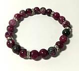 Браслет из Турмалина, натуральный камень, цвет оттенки красного, бордового, тм Satori \ Sb - 0194, фото 2