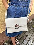 Модная женская бежевая сумочка, фото 2