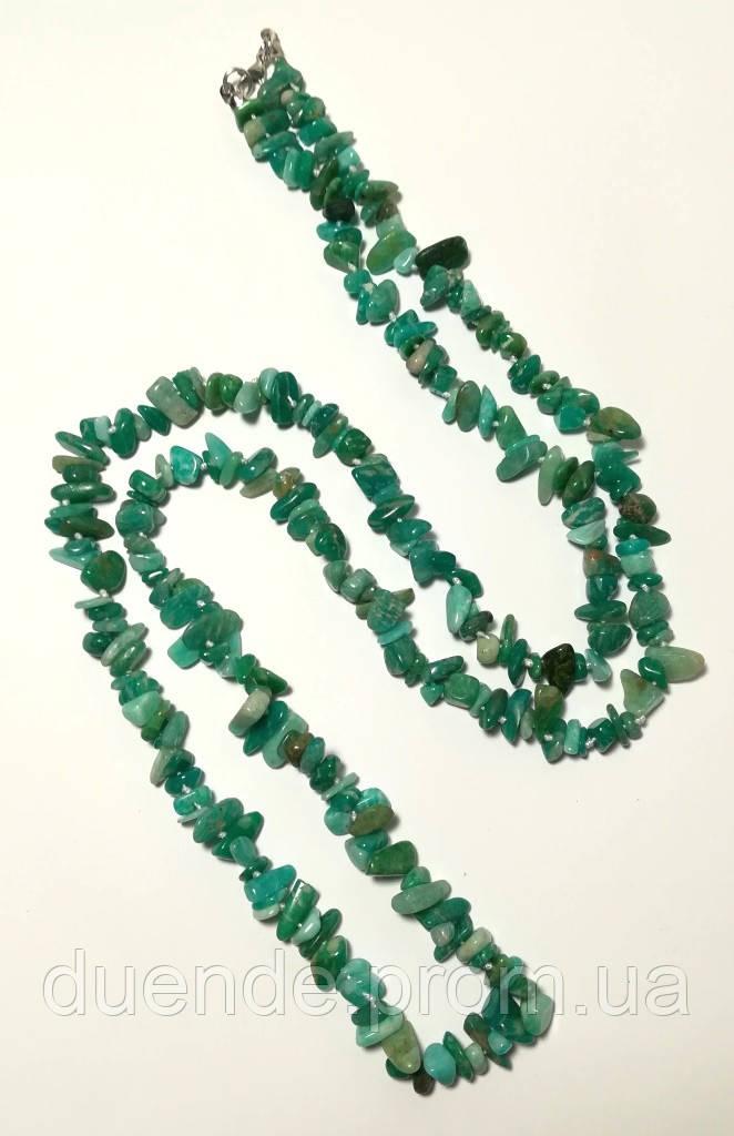 Бусы длинные Амазонит, натуральный камень, длина 95 см, тм Satori \ Sk - 0067