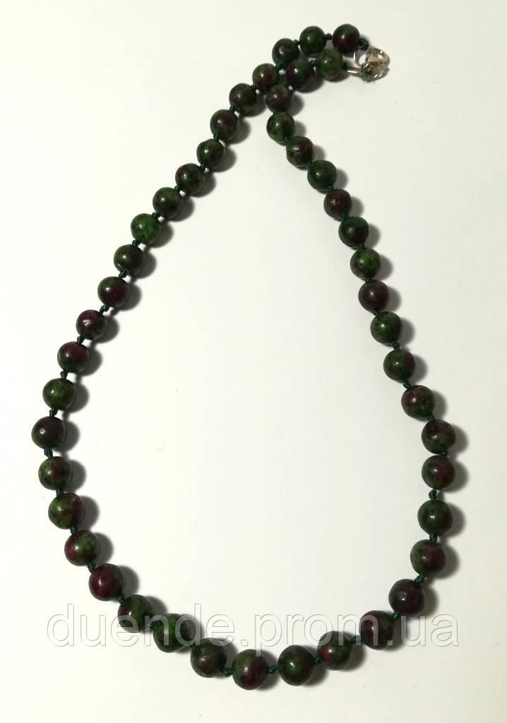 Бусы из Цоизита, натуральный камень, цвет зеленый и его оттенки, тм Satori \ Sk - 0076