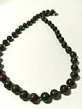 Бусы из Цоизита, натуральный камень, цвет зеленый и его оттенки, тм Satori \ Sk - 0076, фото 3