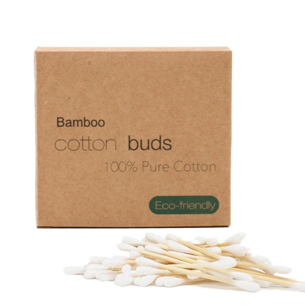Бамбуковые ватные палочки в картонной коробке 300 шт